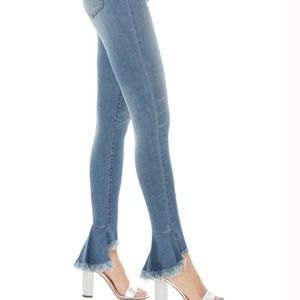 Sam Edelman High Rise Skinny Ankle w/ Raw Step Hem